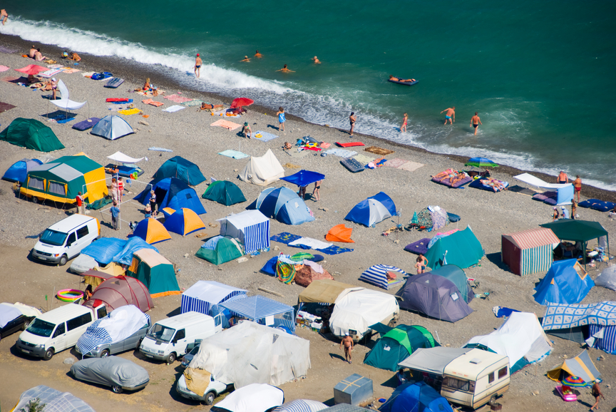 Camping accès plage
